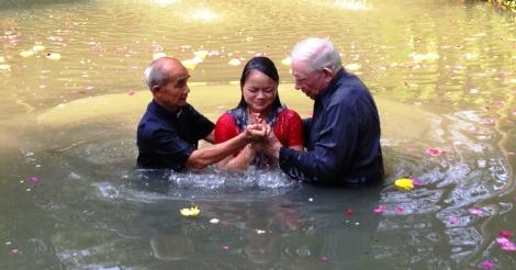 Pao girl baptized