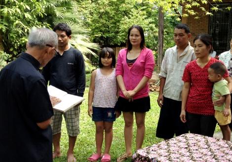 Thai&Shan Baptism at church